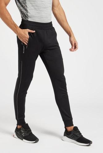 Textured Performance Jog Pants with Elasticated Waistband