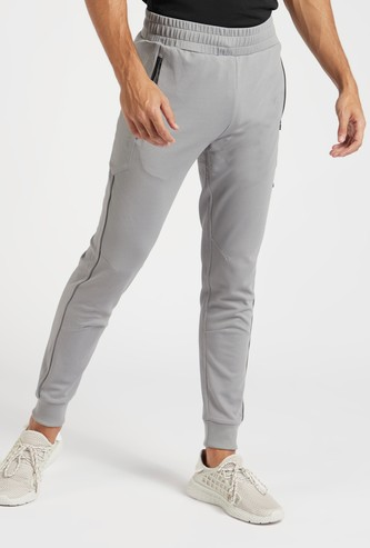 Textured Performance Jog Pants with Pockets