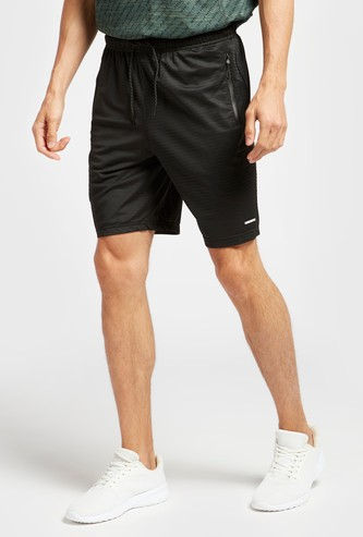 Textured Regular Fit Short with Drawstring Closure