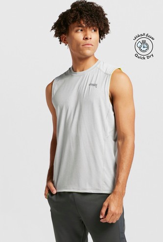 Sleeveless Crew-Neck Tank T-shirt