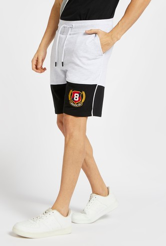 Embroidery Detail Shorts with Pockets and Drawstring