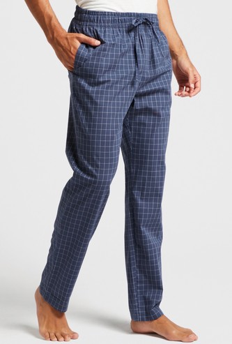 Checked Lounge Pyjamas with Pocket Detail and Drawstring Closure