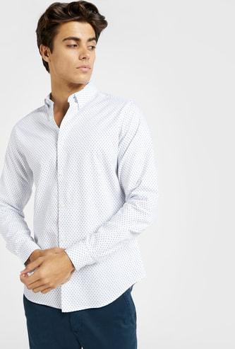 قميص بطبعات دوبي بالكامل وأكمام طويلة