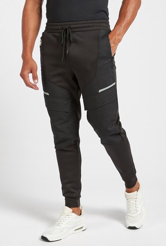 Full-Length Solid Joggers with Pockets and Drawstring