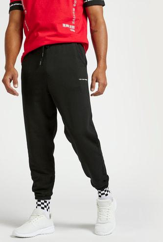 Solid Slim Fit Jog Pants with Pocket Detail and Drawstring Closure