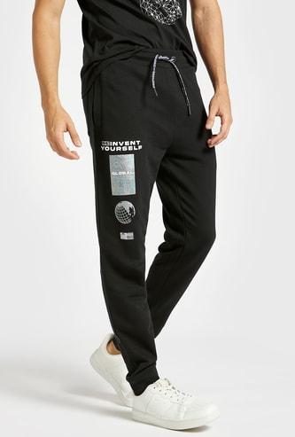 Slim Fit Printed Jog Pants with Pockets and Drawstring