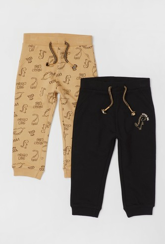 Set of 2 - Assorted Jog Pants with Pockets and Drawstring Closure
