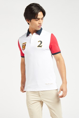 Embroidered Arab Polo T-shirt with Short Sleeves
