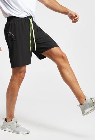 Solid Shorts with Drawstring Closure and Pockets