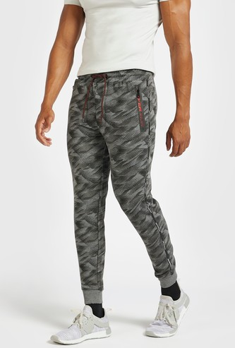 All-Over Print Joggers with Drawstring and Pockets