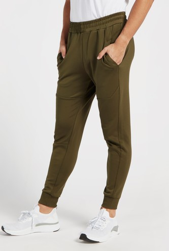 Textured Joggers with Elasticated Waistband and Pockets