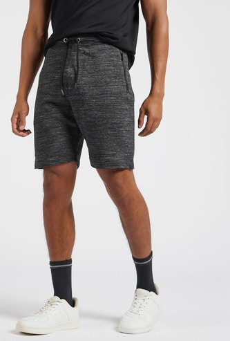 Space Dye Shorts with Pockets and Drawstring Closure