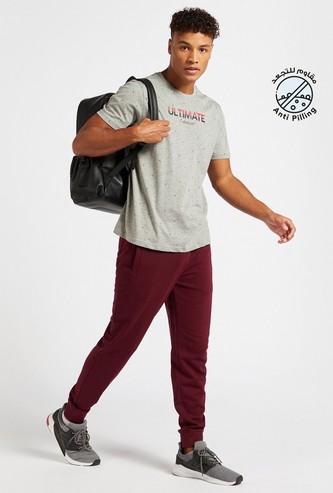Slim Fit Solid Jog Pants with Pockets and Drawstring