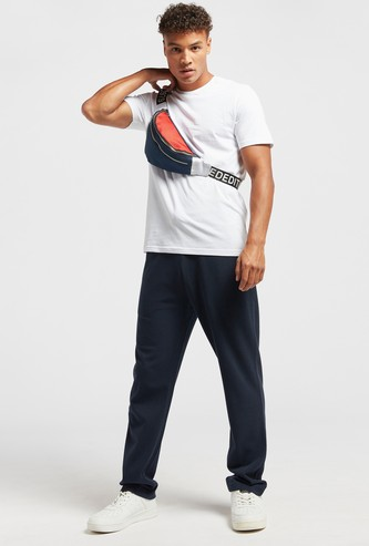 Solid Slim Fit Pants with Drawstring Closure and Pockets