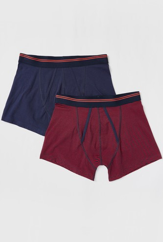 Set of 2 - Assorted Boxers with Elasticated Waistband