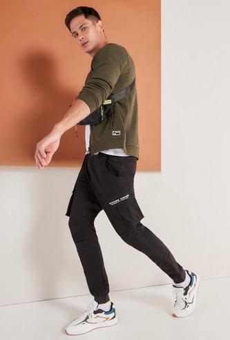 Full Length Cargo Jog Pants with Elasticised Waistband