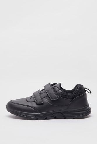 حذاء رياضي مدرسي سادة بشريط إغلاق