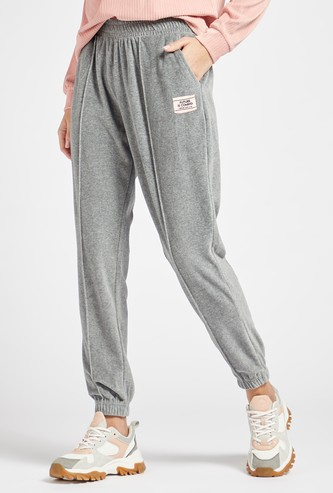 Solid Jog Pants with Pockets and Elasticised Waistband