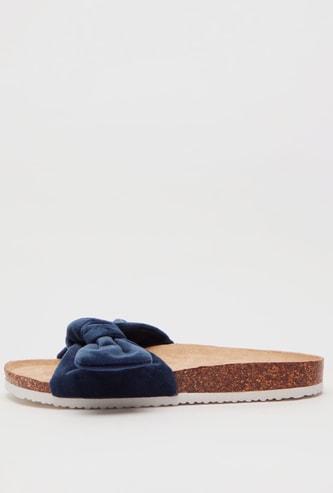Velvet Bow Detail Sandals