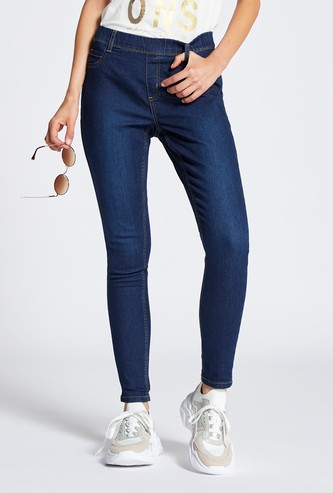 Full Length Super Skinny Jeggings with Elasticised Waistband