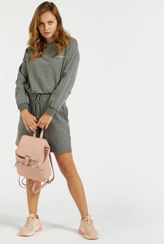 Solid Bermuda Shorts with Pockets and Drawstring