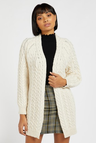 Knitted Oversized Cardigan with Long Sleeves