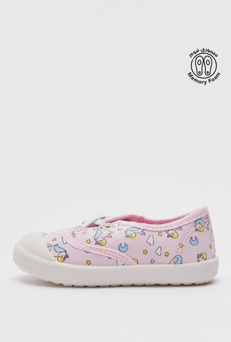 حذاء سهل الارتداء بطبعات يونيكورن
