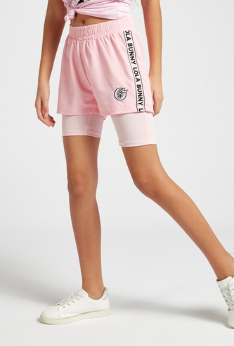 LOLA Bunny Print Activewear Shorts with Elasticised Waistband