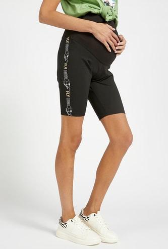 Dumbo Side Print Maternity Cycling Shorts