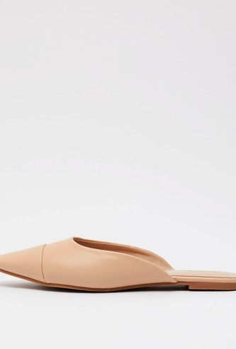 Solid Slip On Mules