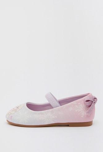 حذاء باليرينا بتصميم إلسا وإغلاق مطّاطي وزخرفة فيونكة