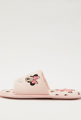 Minnie Mouse Print Embroidered Bedroom Slippers