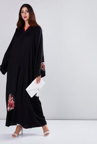 Floral Printed Abaya with Long Sleeves