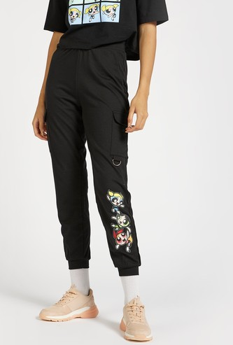 The Powerpuff Girls Print Joggers with Pockets
