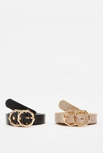 Set of 2 - Regular Textured Belts