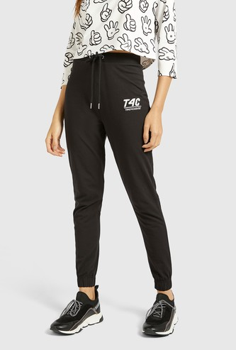 Solid Jog Pants with Elasticised Waistband and Drawstring