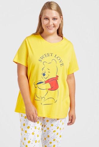Winnie the Pooh Print T-shirt and Pyjama Set