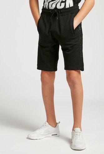 Mesh Side Panel Shorts with Pocket Detail