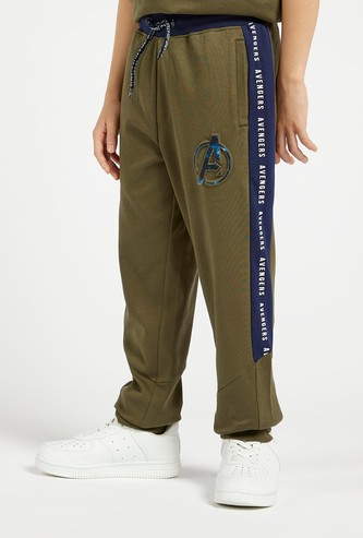 Avengers Embossed Print Jog Pants with Pockets and Drawstring Closure
