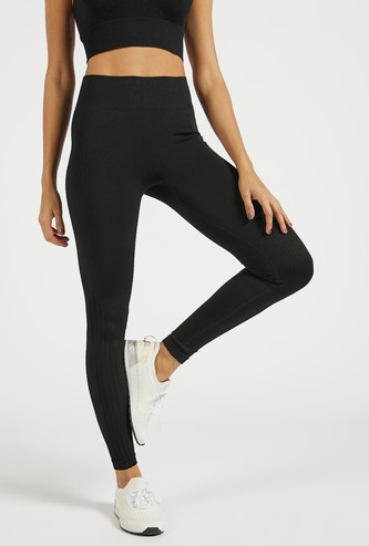 Solid Slim Fit High-Rise Leggings