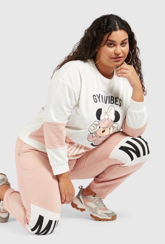 Minnie Mouse Print Joggers with Pockets and Drawstring Closure