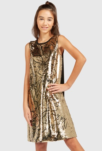 Princess Sequin Detail Sleeveless Dress
