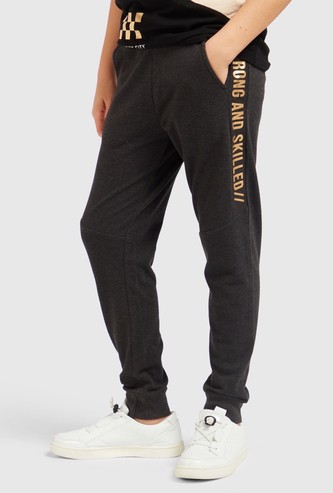 Printed Joggers with Drawstring and Pockets
