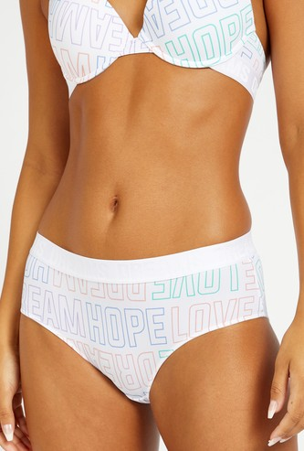 All-Over Print Boyleg Briefs with Wide Elasticised Waistband