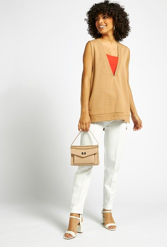 Solid Pants with Drawstring Closure