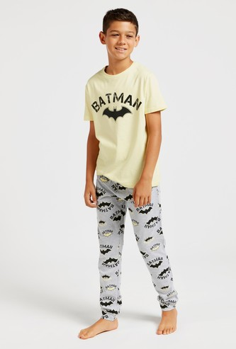 Batman Graphic Print T-shirt and Pyjama Set
