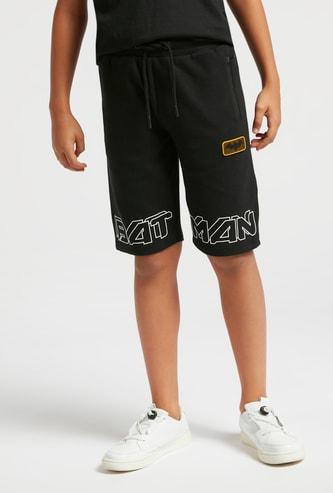 Batman Textured Shorts with Pocket Detail and Drawstring Closure