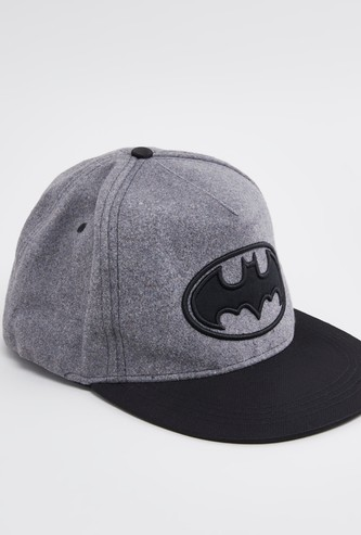 Batman Embroidered Cap with Snap Closure