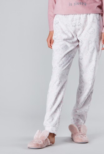 Cozy Collection Printed Jog Pants with Elasticised Waistband
