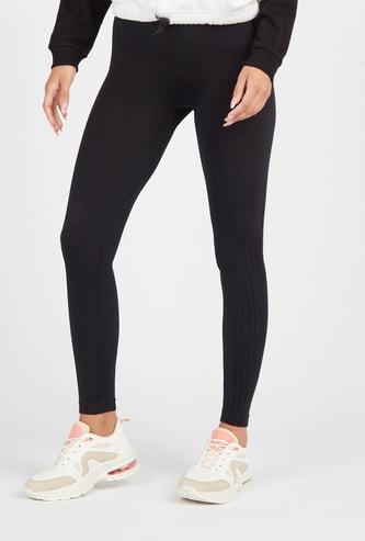Solid Slim Fit High-Rise Seamless Leggings
